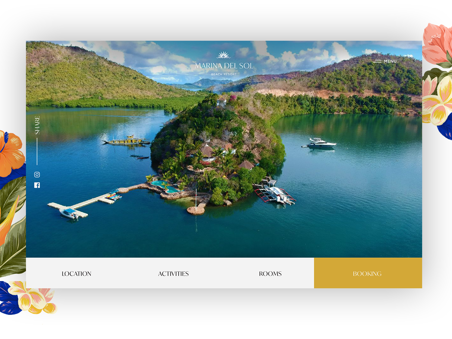 Marina del Sol Website logo typogaphy adobe illustrator uxui color graphic  design branding design