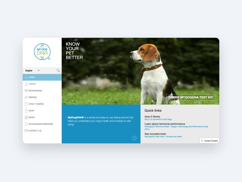 My Dog DNA web webdesign ux