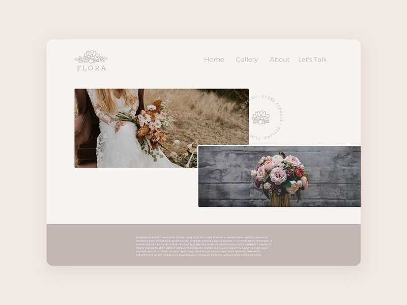 Wedding Florist Website magnolia wedding florist florist wedding uiux webflow marvel sketch website web ux ui logo design