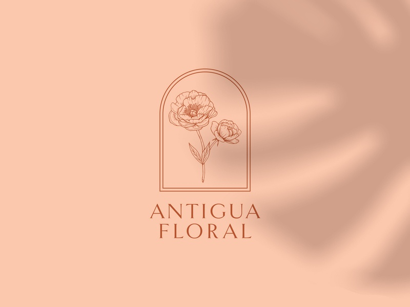 Antigua Floral - Rebrand floral hand drawn identity wedding redesign minimal flat vector design linework illustration logo branding