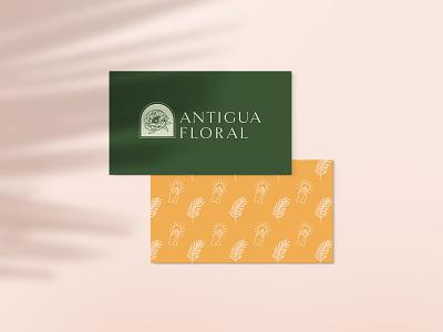 Antigua Floral - Brand Elements wedding vector redesign minimal logo linework illustration identity hand drawn floral flat design branding