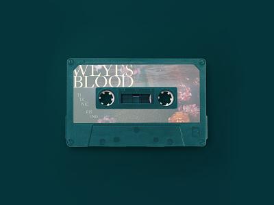 Weyes Blood - Titanic Rising - Cassette Design productdesign music layout graphicdesign flowers photoshop cassette mockup print design illustration