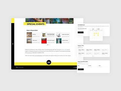 Art Museum Online Reservation System Designs uiux ui design ui ux technology responsive mobile dashboard art corporate clean black and white website minimal flat web app ux vector ui