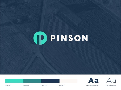 Pinson Land Services - Branding business cards energy industry energy oil and gas shapes modern logo design logomark identity logo graphic design branding brand identity brand design brand clean minimal flat