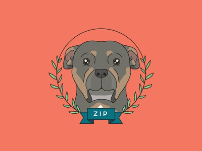 Portrait of a Pit Bull pet portrait pet illustration linework dog portrait portrait dog pit bull