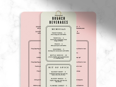 Brunch + Brunch Cocktails Menu Concept menu design cocktail menu restaurant menu restaurant brunch menu brunch menu