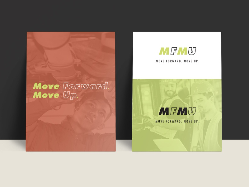 Move Forward. Move Up. - Branding Concept 1 logo concept brand design branding