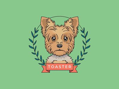 Portrait of a Yorkie yorkshire yorkie pup vector art vector illustration vector portrait illustration dog portrait linework dog illustration dog