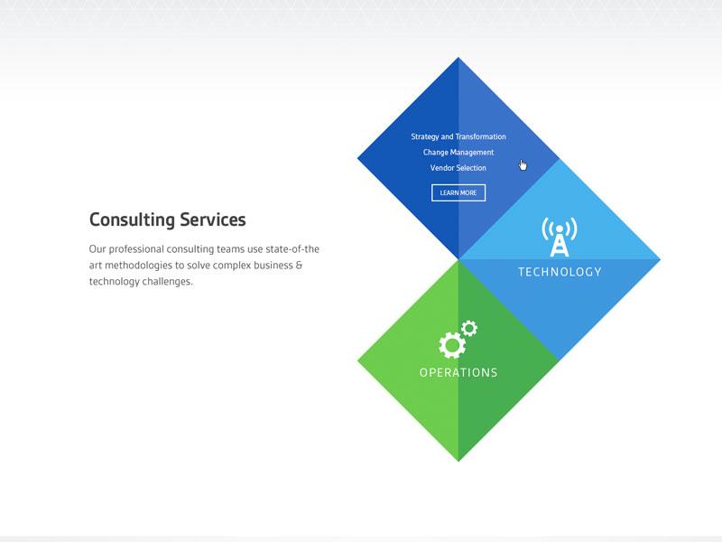 Consulting diamonds analogous interactive graphic