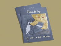 "Children illustration ""Friendship of cat and mouse"""