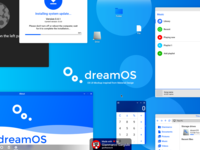 dreamOS - OS UI Mockup inspired from Material Design