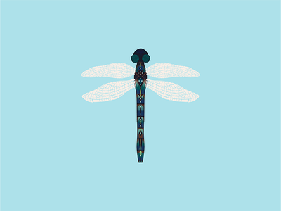 Dragonfly Exploring Color ipad artist adobe fresco find your style illustration digital art water color color color experiments dragonfly