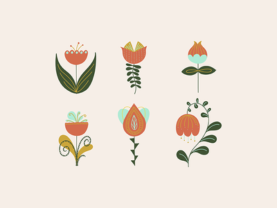 Modern Folk Art Botanical ipad artist adobe fresco illustration botanical modern folk art folk art