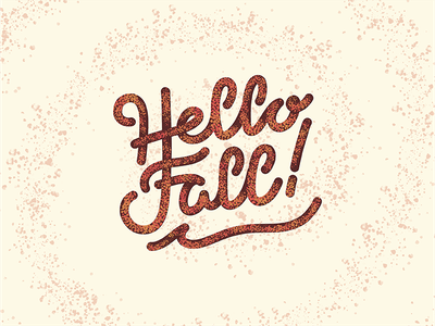 Hello Fall hand lettering lettering hand lettered lettered autumn hello fall fall