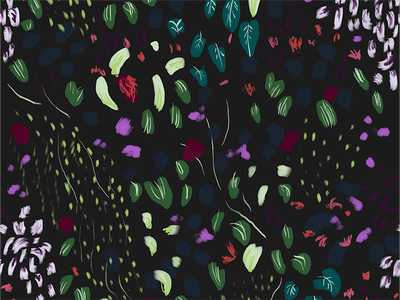 Moody Floral Pattern surface pattern dark moody pattern design pattern expressive floral pattern floral