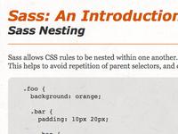 Sass: An Introduction Workshop Codepens
