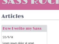 Sass Rocks