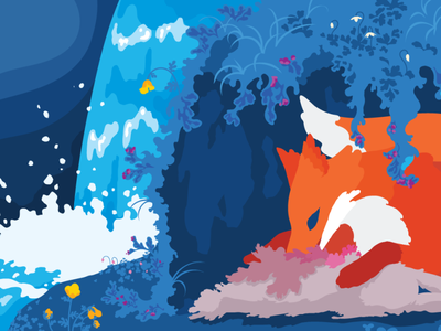 Nature Illustration nature animal illustrator drawing colorful art graphic design vector illustration