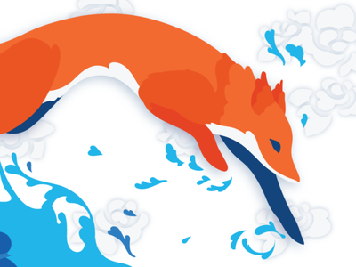 A jumping fox childrens illustration character illustrator drawing art digital graphic design vector illustration