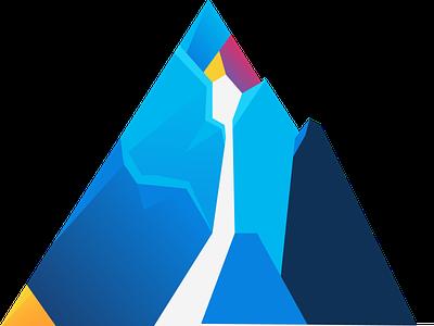 Summit Logo art digital branding roadmap blue graphic design design vector graphic summit logo mountain