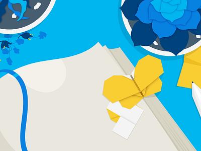 desk origami banner illustrator website flat graphic design graphic drawing digital vector design illustration