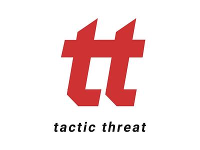 Tactic threat defender logomonogram logoletter