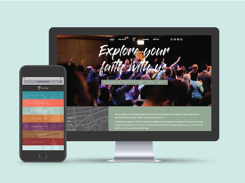 The Vine Website Redesign website web ux ui design branding