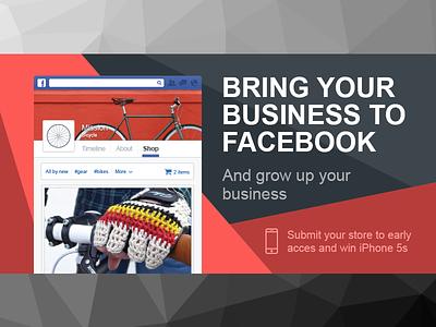 Facebook promo post design web flat promo