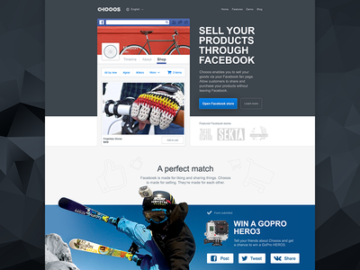 Chooos Landing landing page layout clean illustration web design