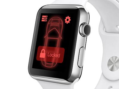 Locked Car car iwatch