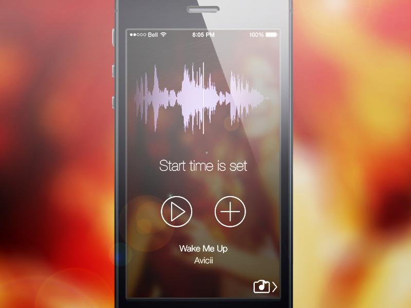About to submit! ios 7 music app camera app matt loszak new app jamcam waveform transparency