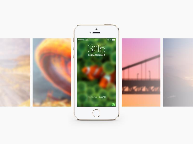 [Freebie] iOS7 Gentle Blur Wallpapers app ios 7 iphone backgrounds blur gentle iphone 5s parallax wallpaper