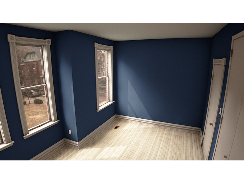My Room Render cinema 4d 3d render room house lighting physical render matt loszak