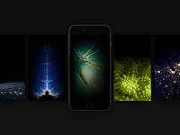 [Freebie] iOS9 Black iPhone Wallpapers