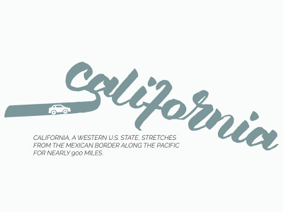 California illustration design business card typografi typo logo branding typography