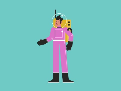 Pink Astronaut suit man space sky astronaut pink boy salt lake city illustration design