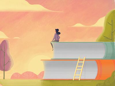IKNOWPLACES sunset place woman girl salt lake city design illustration