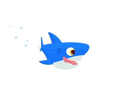 Turbo Shark blue denverdesign tiburon cartoon design illustration shark
