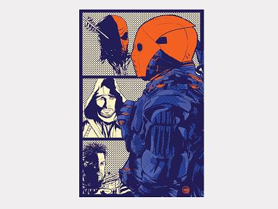 Deathstroke deathstroke slade wilson illustration digital art design green arrow