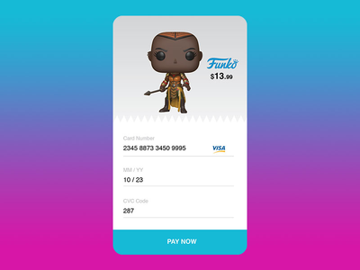 Daily Ui 002- Credit Card Checkout