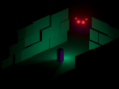 Dark 3d isometric
