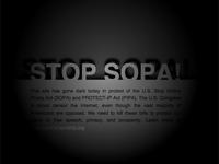 Public Domain Stop SOPA Blackout Design