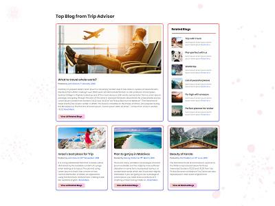 Blog page design for travel website dribbble front-end development blog design gradient ui wesite travel blog page