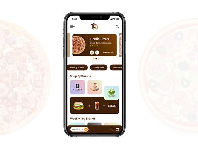 Food App UI design design application food and drink food app ui  ux ios app design android app design app design front-end development
