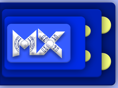 logitech MX 02 mx personal brand banner vector illustration branding yellow blue banner ad logitech design