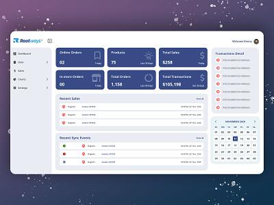 Dashboard design front-end development adobe xd ux ui admin panel magento 2 dashboard ui