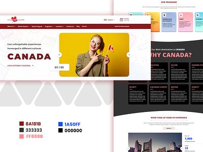 Learning website canada learning ui illustration banner front-end development design