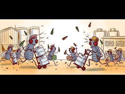 Beer Advocate - Barflies bottles flies battle fight brewery barflies beeradvocate beer