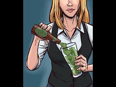 Beer Advocate - Happy Medium money pouring bartender dollars beeradvocate beer