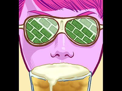 Beer Advocate - Bright Future foam money sunglasses beer